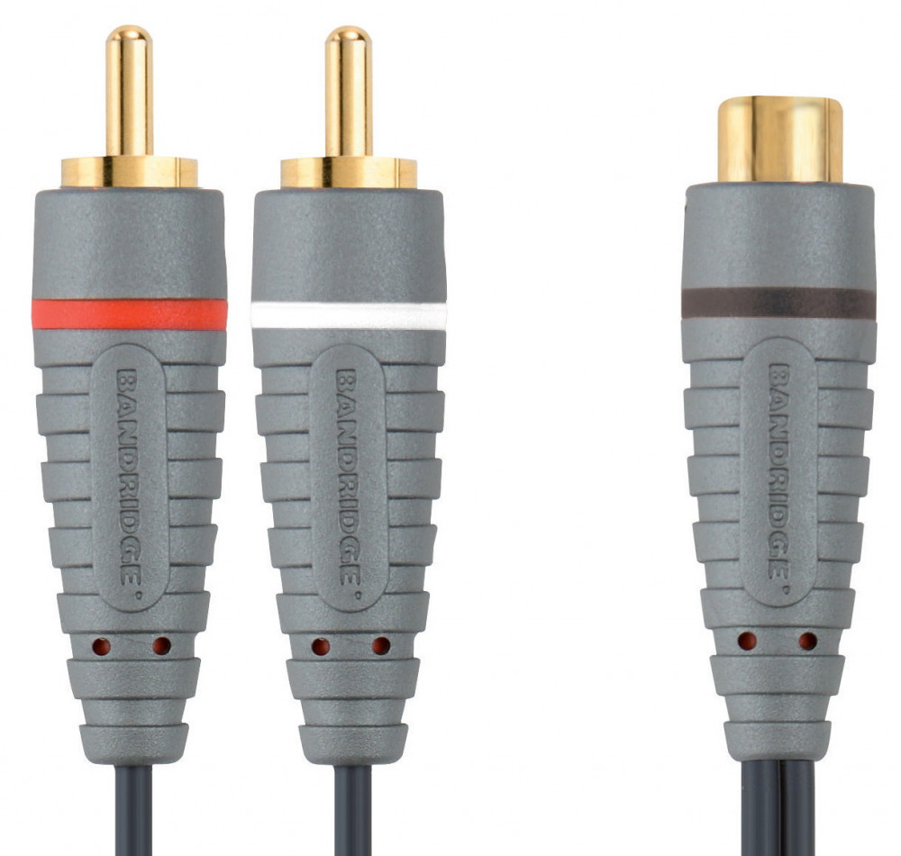 Bandridge BANDRIDGE Adapter 1RCA Hona- 2RCA Hanar