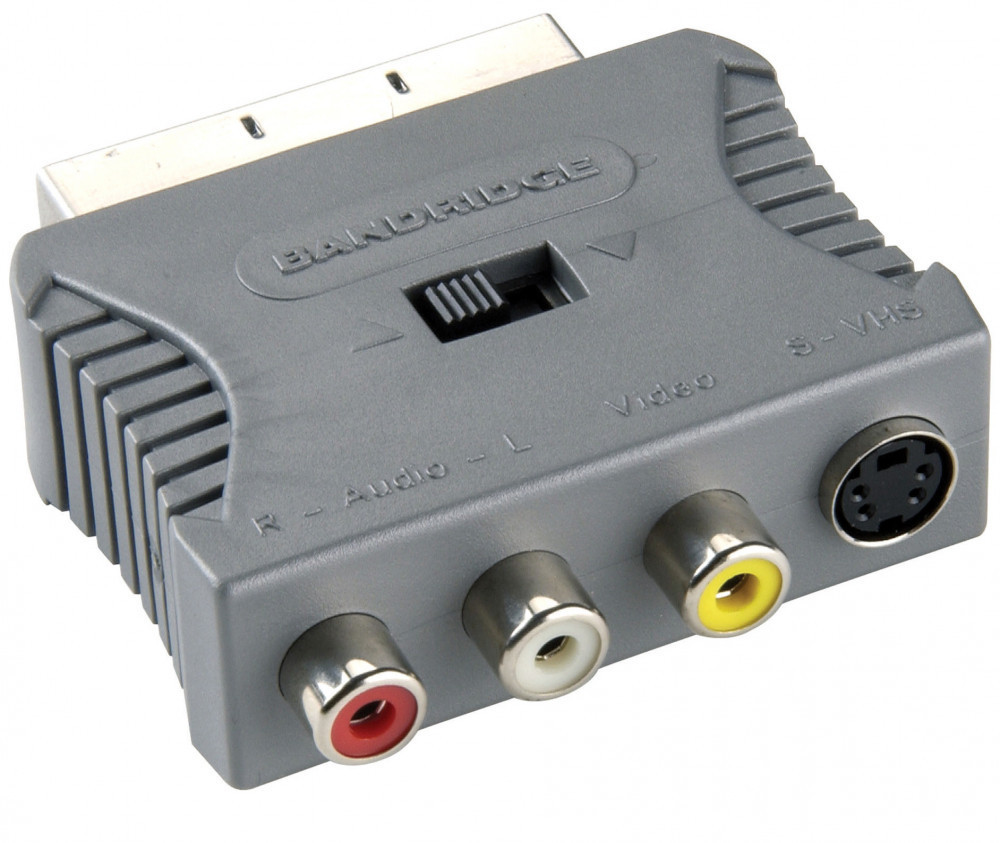 Bandridge BANDRIDGE Scart-RCA Bild/Ljud Adapter