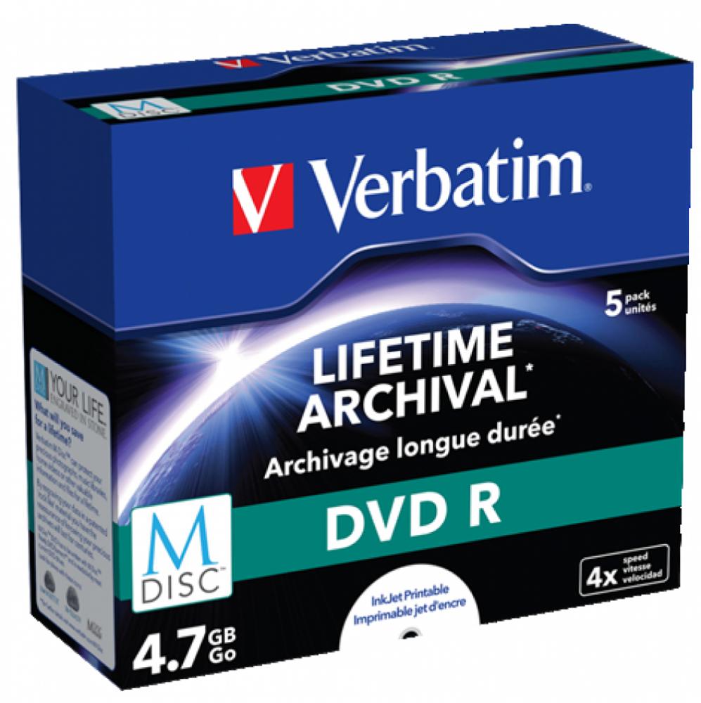 Verbatim VERBATIM DVD-R Lifetime Arkivering 5-pack