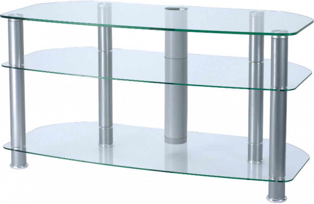 Alphason TV-Möbel 3-hyllor Clear Glas 100cm