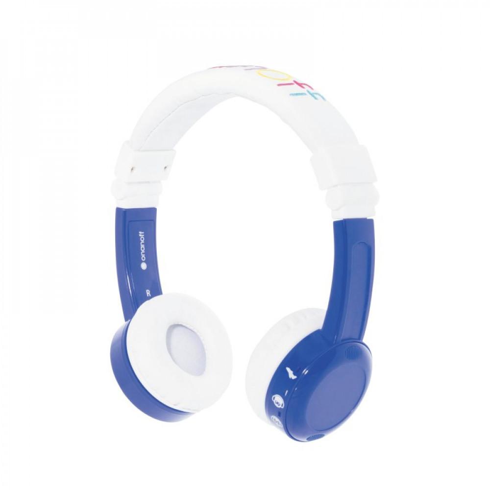 BuddyPhones BUDDYPHONES Kids In-Flight Vikbar Headphone Mic Blå