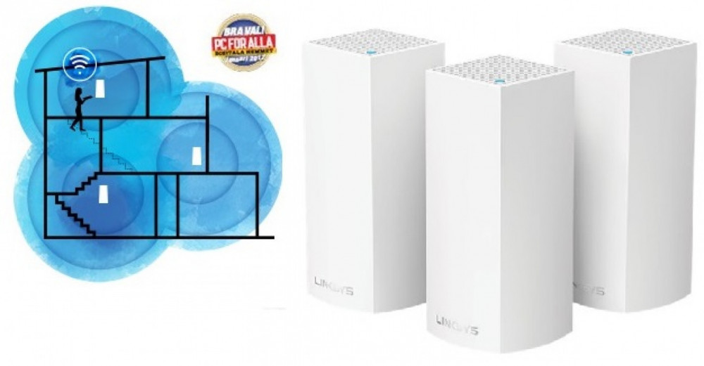 Linksys LINKSYS Velop 3-Pack Hela Huset WiFi System