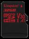 Kingston 32 GB MicroSD minneskort Class 10, UHS-I-U3 Canvas React