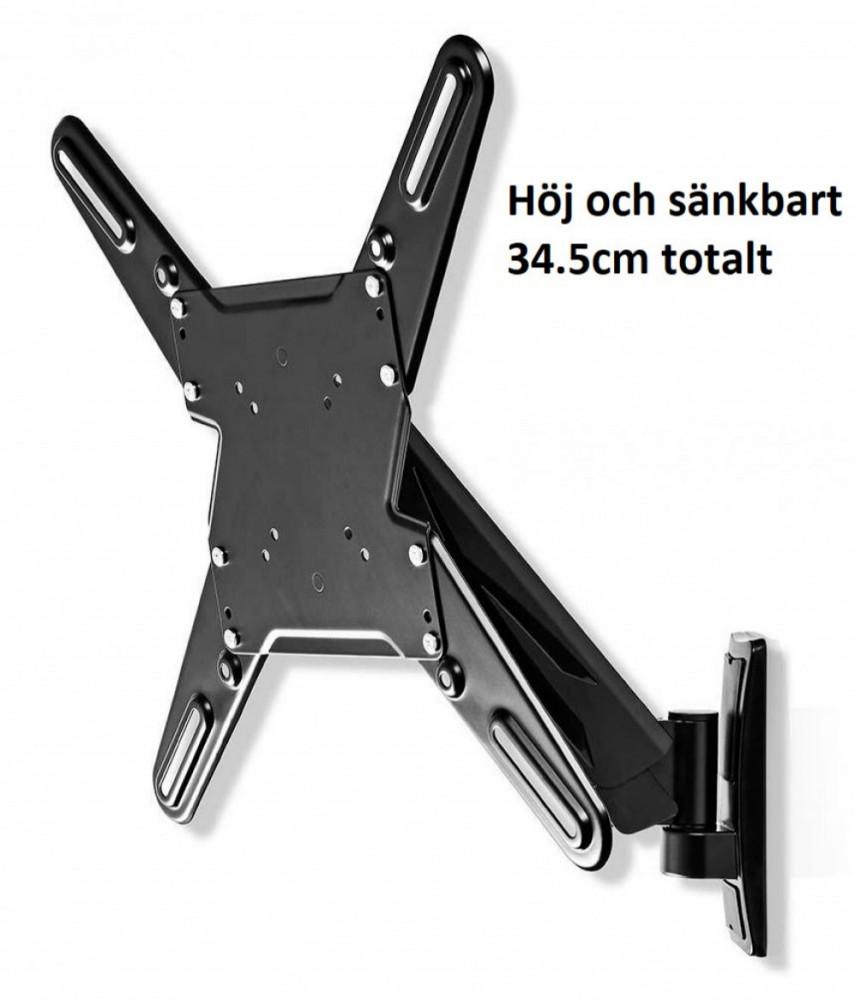 Nedis Tv-Väggfäste Höj/Sänkbart 29-55