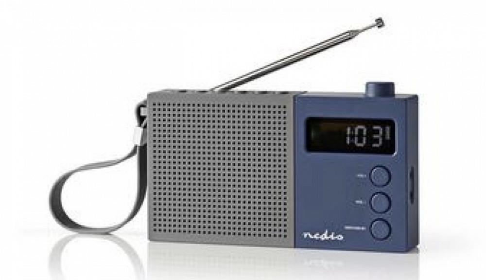 Nedis FM-Radio RDFM2210 Grå/blå