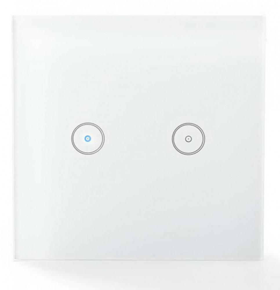 Nedis Smart-Hem WiFi Vägg Dubbelströmbrytare WIFIWS20WT