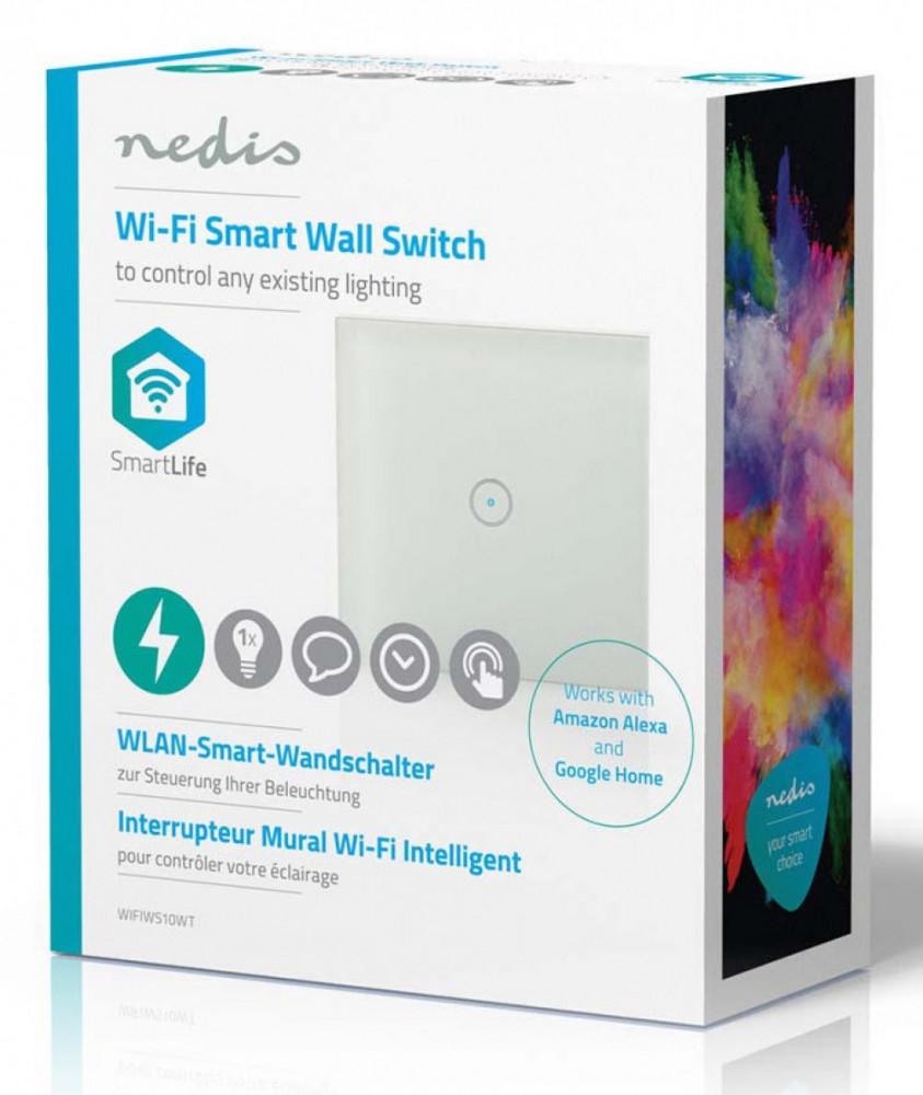 Nedis Smart Hem WiFi Vägg enkelströmbryta WIFIWS10WTre kungstv