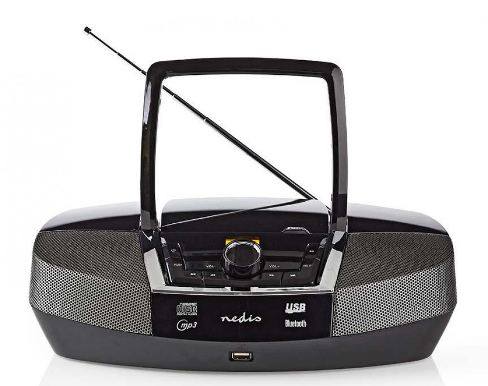 Nedis Bärbar CD/Radio/Bluetooth SPBB200 Svart