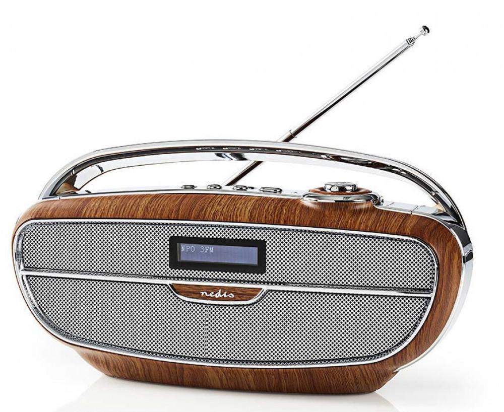 Nedis Retro Radio DAB+Bluetooth RDDB-5310 Trä