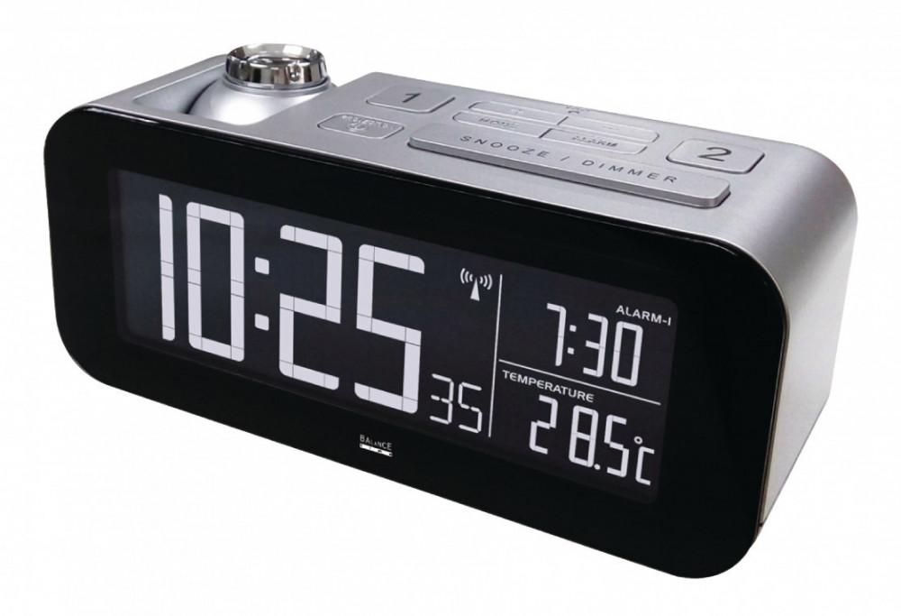 Balance Väckarklocka med Projektion och Temperatur