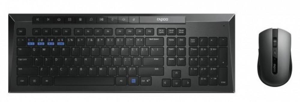 Rapoo 8200M Office Multi-Mode Tangentbord/Mus Svart
