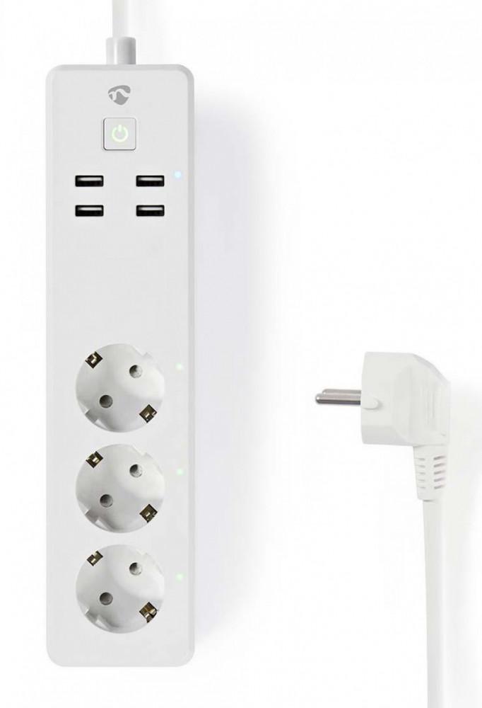 Nedis Smart WiFi Förlänings el-grenuttag WIFIP310WT