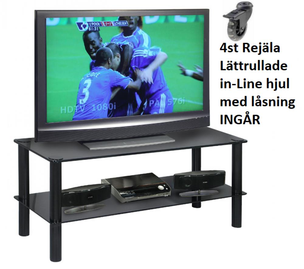 Ovriga Tv Mobel Glas Blackline 90cm Med Hjul Kungstv