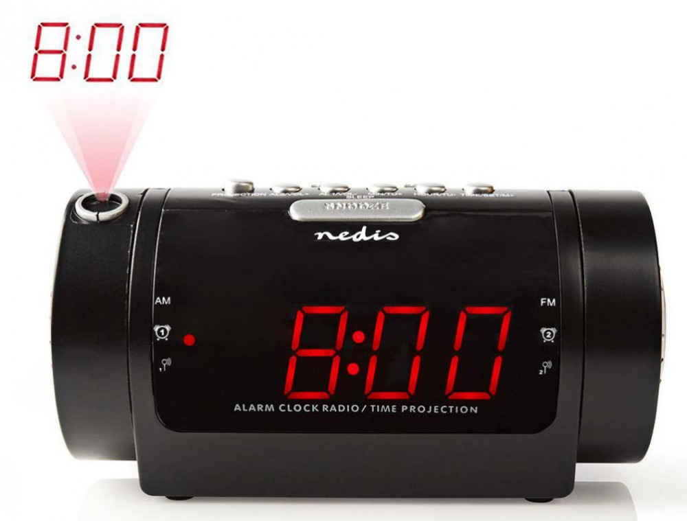 Nedis Klockradio liten kompakt med Projektion CLAR005
