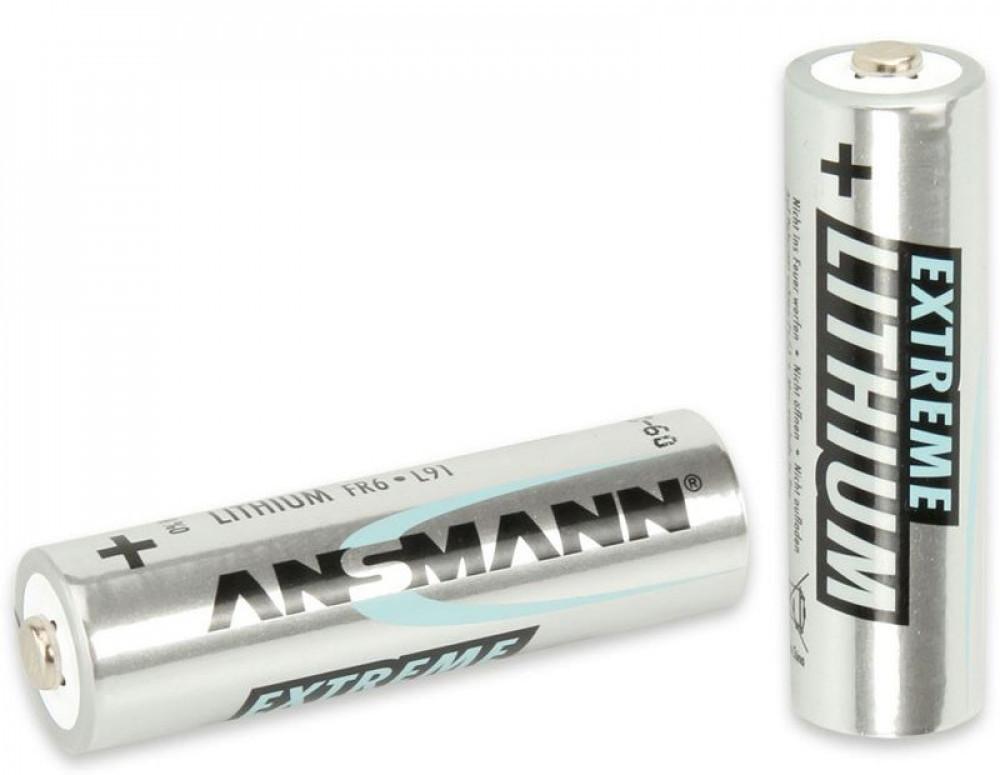 Ansmann Lithium AA-Batteri 2-pack