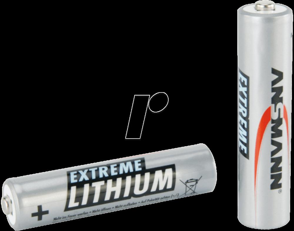 Ansmann Lithium AAA-Batterier 2-Pack
