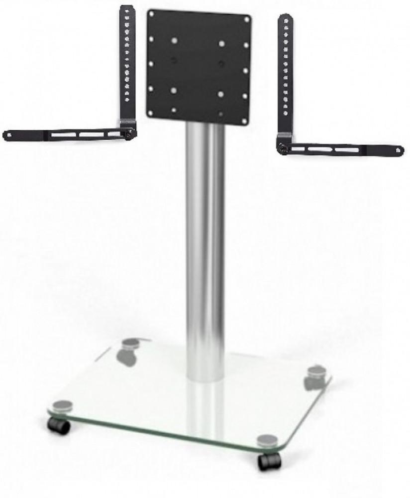 Spectral QX 203 Tv-Golvstativ med soundbar fäste Klar Glas