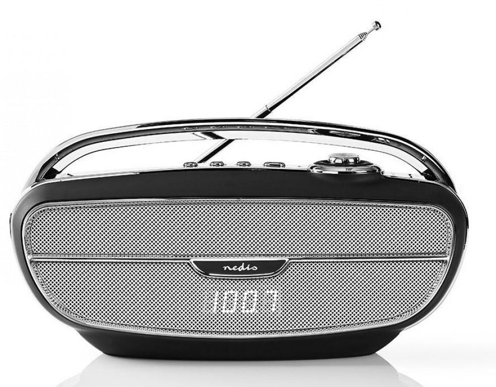Nedis Retro Radio med Bluetooth RDFM-5310 Svart/Silver