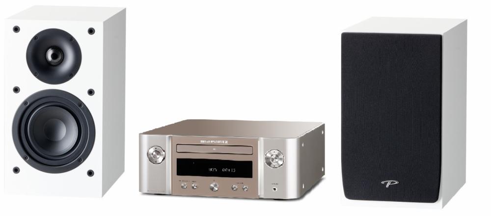 Marantz Melody Stereo Paket - High Power Silver - Vita Högtalare
