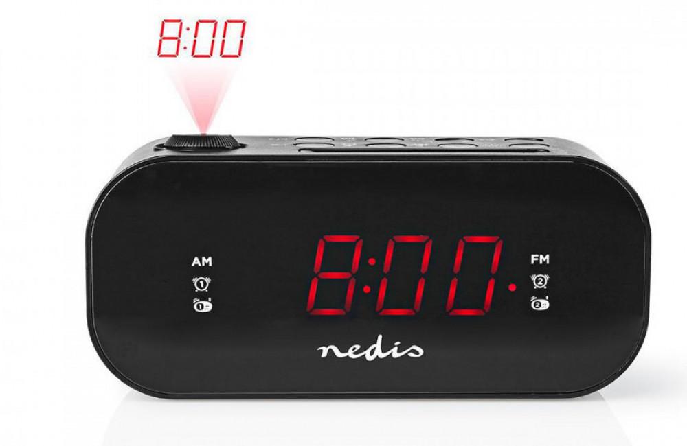 Nedis Klockradio med projektions klocka CLAR009BK