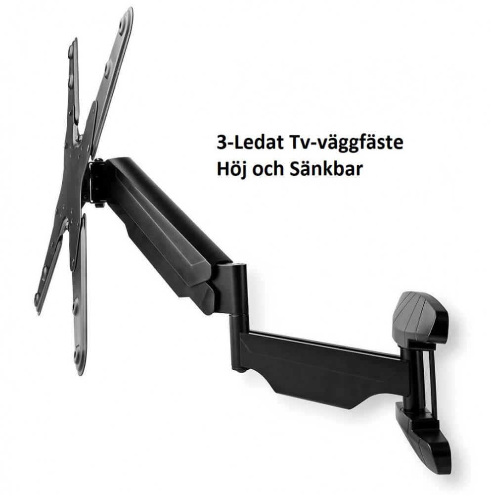 Nedis TV-Väggfäste Höj/Sänkbart 23