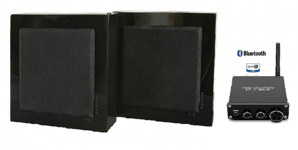 DLS FlatBox Bluetooth Förstärkare 2x50 watt Mini mk2 Blank Svart