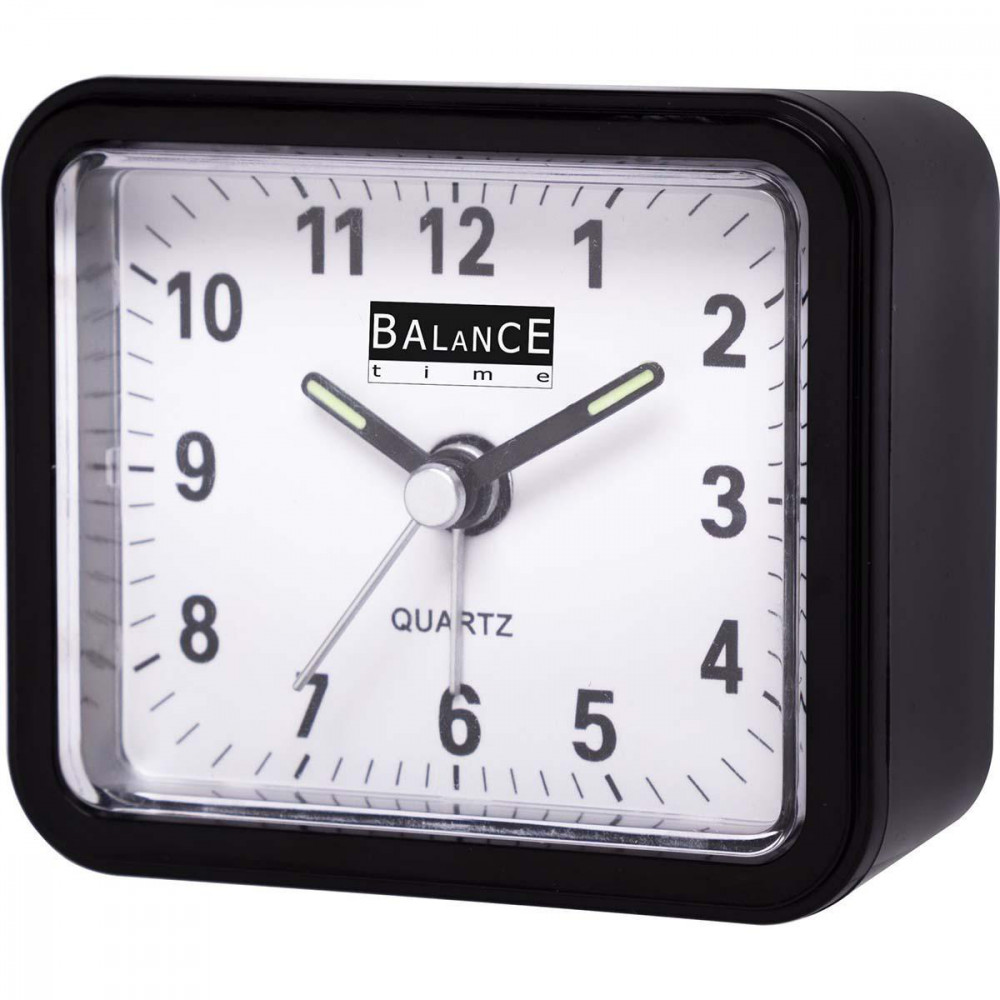 Balance Väckarklocka Classic Analog Quartz Svart