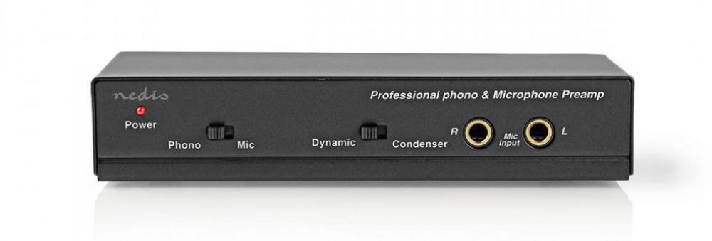 Nedis Proffs RIAA Phono och Microfon förförstärkare AAMP2420BK