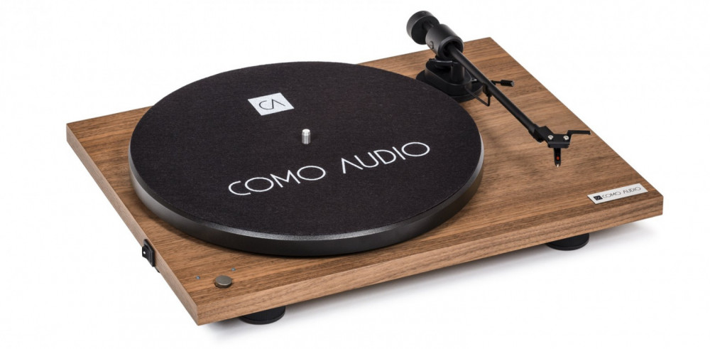 Como Audio Turntable - Bluetooth Vinyl Spelare Valnöt