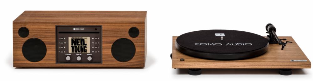 Como Audio Musica med Como Audio vinyl spelare Valnöt