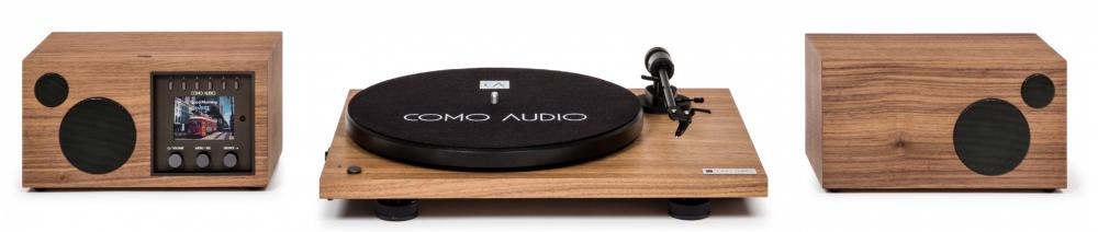 Como Audio Paket med Vinyl och Solo+Ambiente Ljud Valnöt