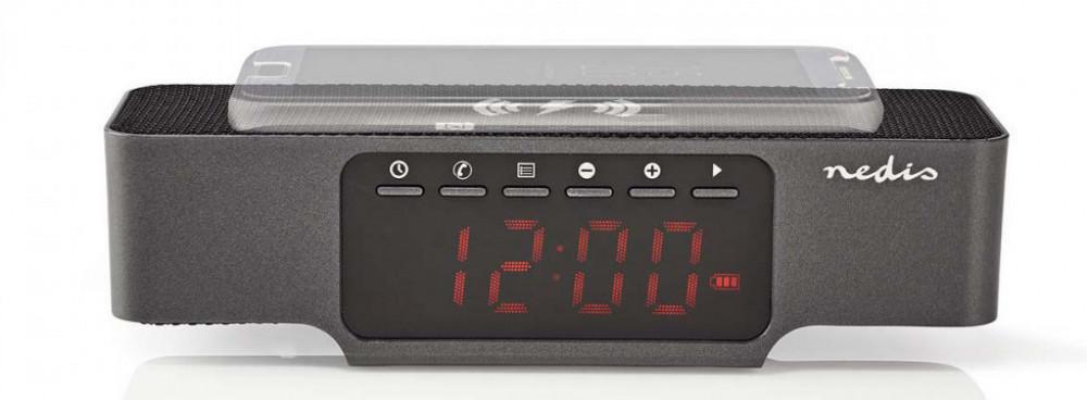 Nedis Klockradio - Bluetooth - Trådlös Telefonladdning
