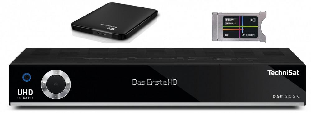 TechniSat Boxer Inspelning 2-Tuner 1TB HDD HDTV-Mottagare