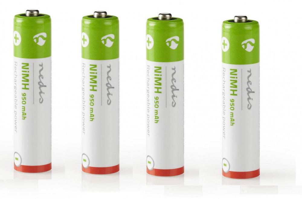 Nedis 4st Ni-Mh AAA Laddbara batterier 950 mha