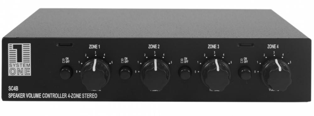 System One SC4B - 4-Vägs Högtalar växel-Volymkontroll