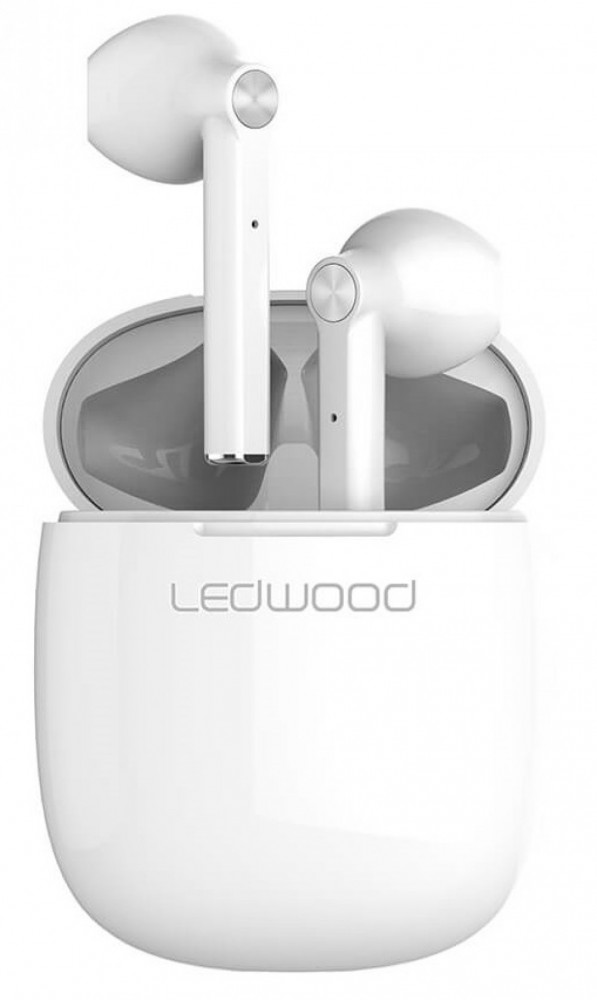 Ledwood T16 True wireless in-ear Hörlur Acrtic Vit