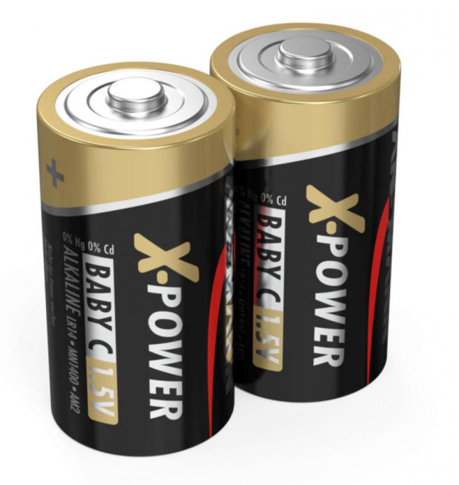 Ansmann 2-pack Alkaliska C/LR14 X-Power batterier