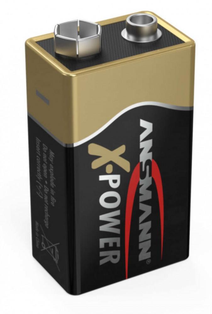 Ansmann 9-Volt Alkalisk 6LR61 X-Power Batteri