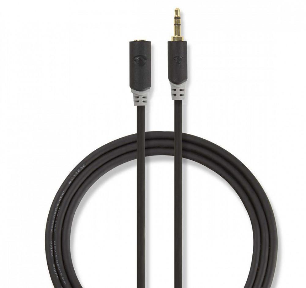 Nedis Stereoljud kabel förlängning 3.5mm-3.5mm 5met