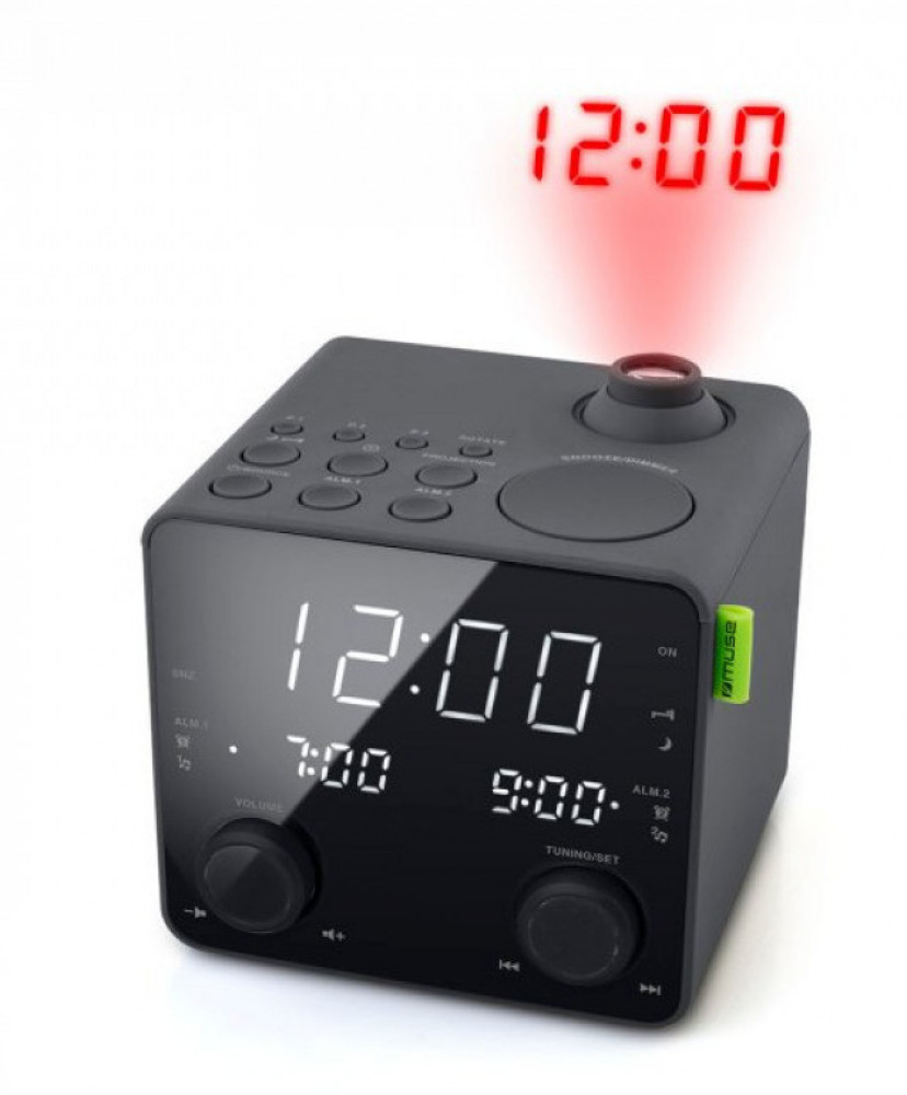 Muse M-189 Klockradio med Projektorklocka