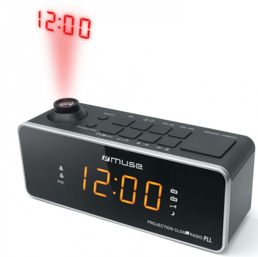 Muse M-188 P Klockradio med Projektorklocka