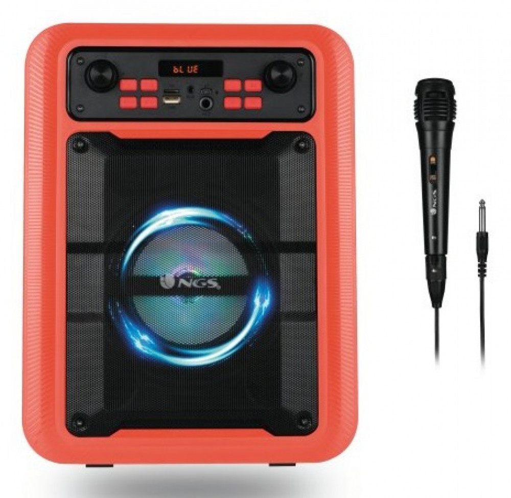 NGS Roller Lingo - Bärbar Bluetooth Högtalare med microfon Röd