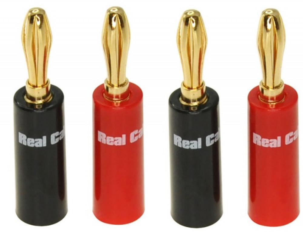 Real Cable Real Cabel 4-pack Banan Högtalarkontakter