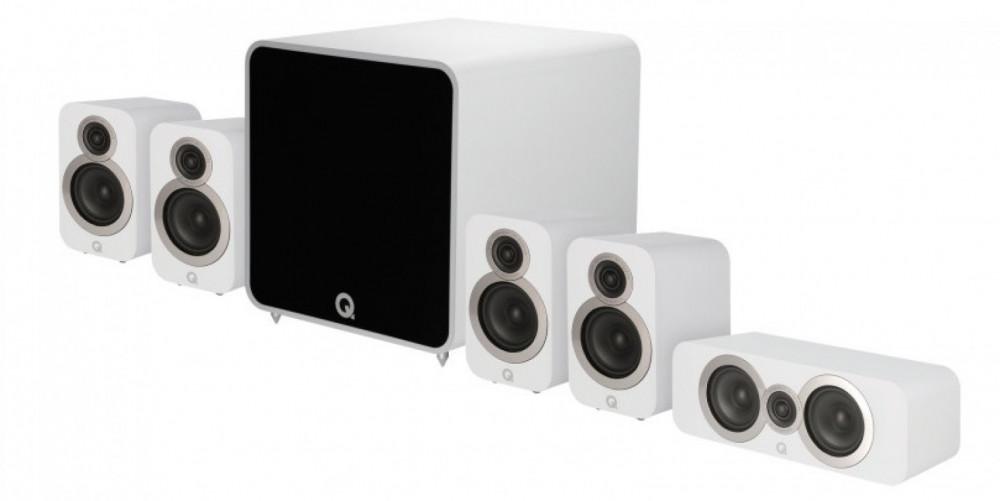 Q Acoustics Q 3010i 5.1 Plus Power Cinema Pack Artic White - Matt vit
