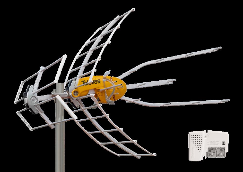 Televes ELLIPSE Mix Kombi HDTV-Antenn inkl strömdel