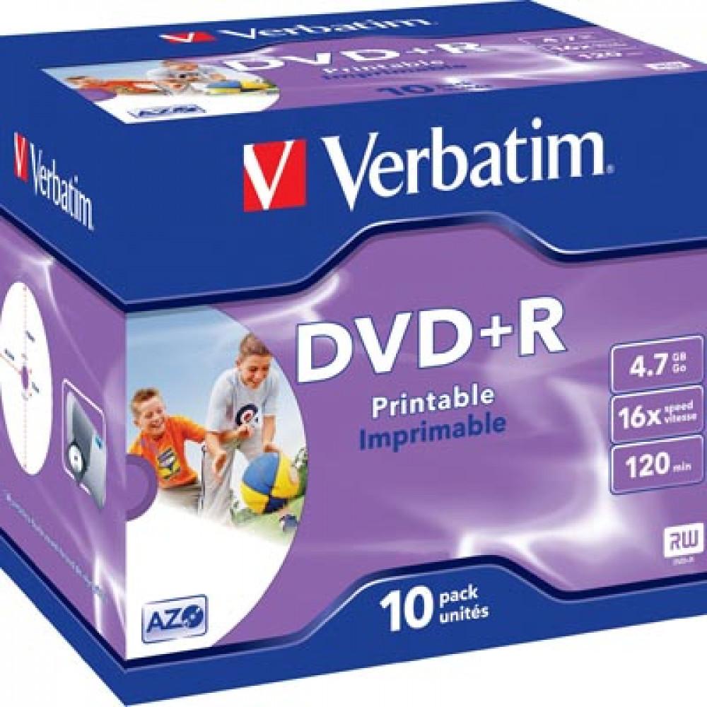 Verbatim VERBATIM DVD Plus R 10-pack