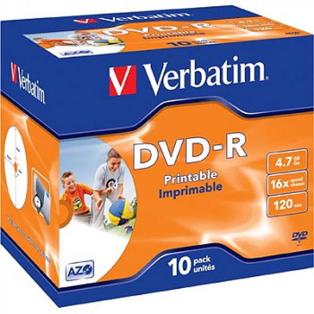 Verbatim VERBATIM DVD-R Printbar yta
