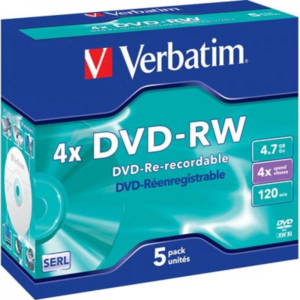 Verbatim VERBATIM DVD-RW 5st
