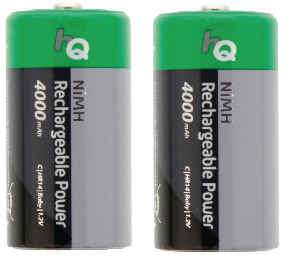 HQ HQ NiMH C-LR14 2-pack laddbara batterier