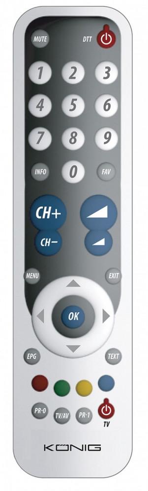 König TV-Fjärrkontroll Universal - Programmering ingår